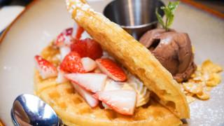 冰淇淋草莓華夫格子